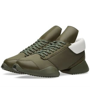 ee71d617cc83 AQ2823 New Adidas x Rick Owens Runner in Earth Green Size 8