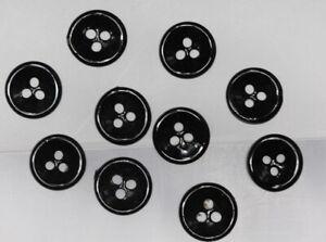 Schoenes-Puppenknopf-Set-10-schwarze-Dreiloch-Knoepfe-wohl-um-1950-60