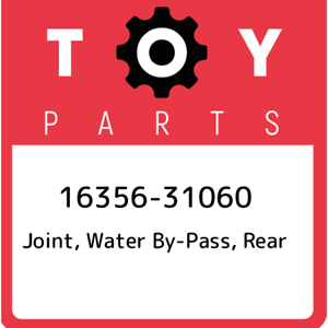 16356-31060-Toyota-Joint-water-by-pass-rear-1635631060-New-Genuine-OEM-Part