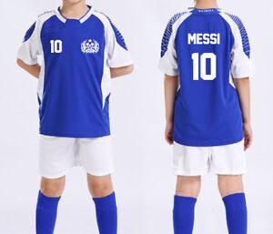 online retailer 98bcb b5900 KID YOUTH SOCCER FOOTBALL JERSEY W/ SHORT SET MESSI, RONALDO ...