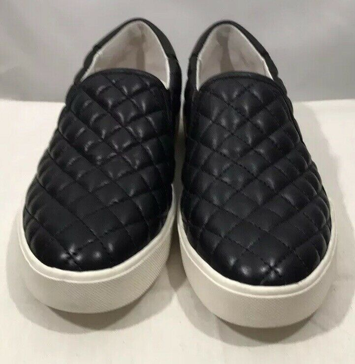 Sam Edelman Ezzie Slip On Leather Quilted Women's Sneakers Black Size 6.0