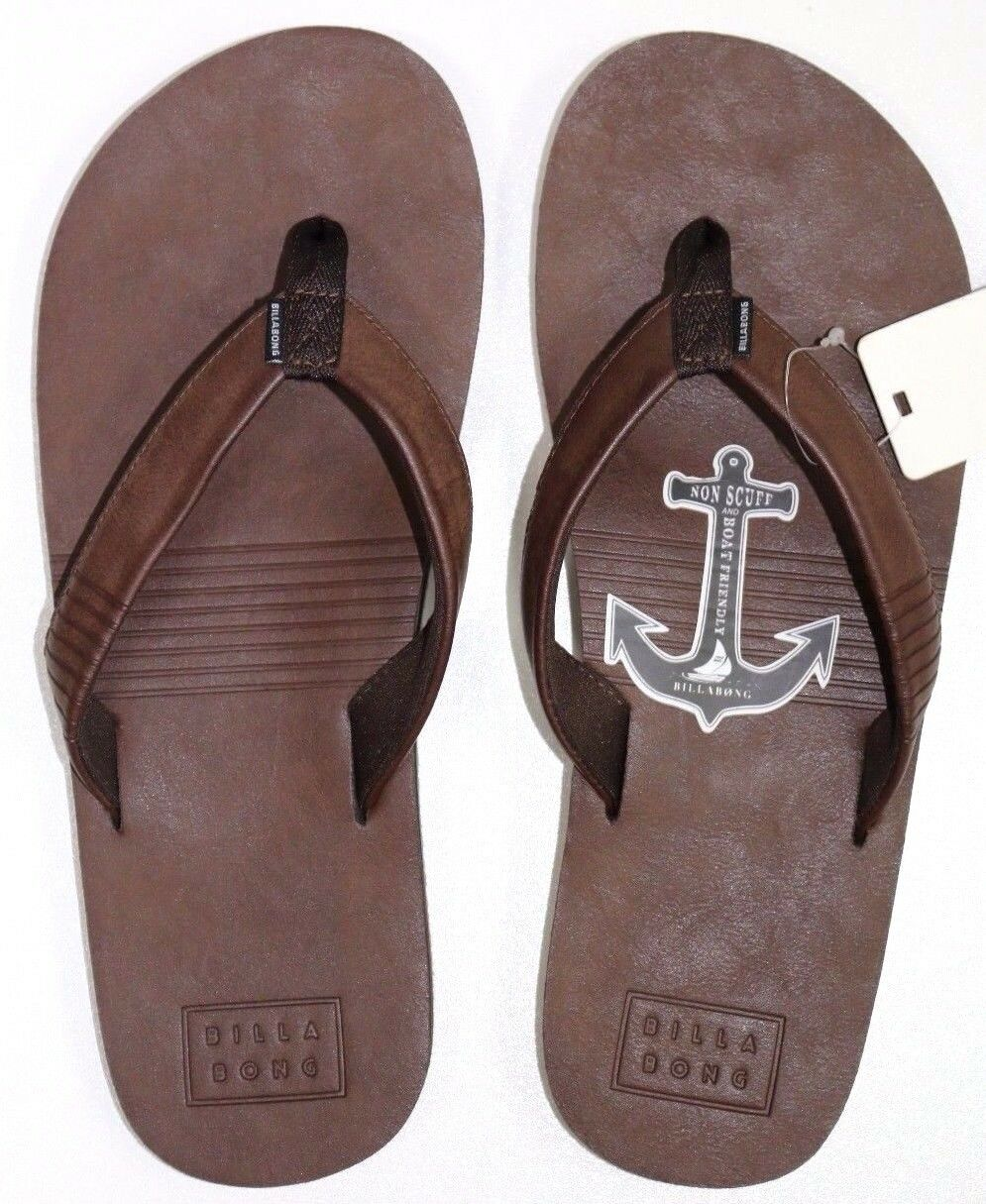 33e830bb19481 Men s Billabong All Day Brown Thongs       Flip Flops. Size 10 - 11. NWT.  RRP  39.99 03f785