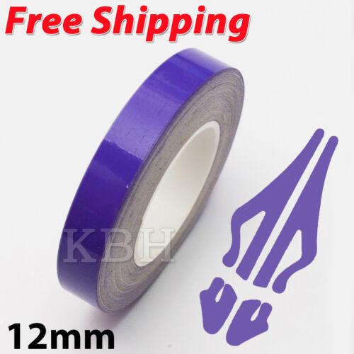 "12mm 1//2/"" Pin Stripe Pinstriping Solid Line Tape Vinyl Decal Sticker Car Purple"