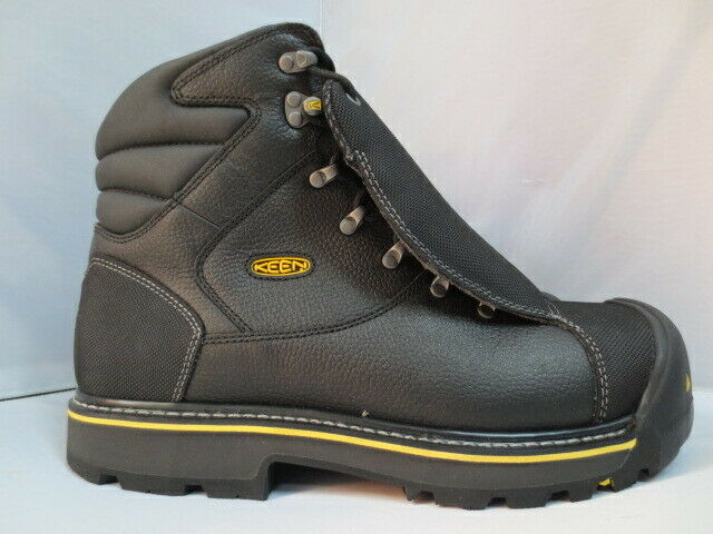 Men's 6  Keen Black Steel Toe Met Guard Work Boot Size 15 D  1007978