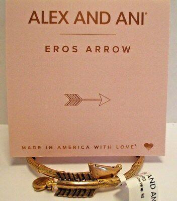 Alex and Ani EROS ARROW  WRAP BRACELET GOLD Plated W//Tag /& Card