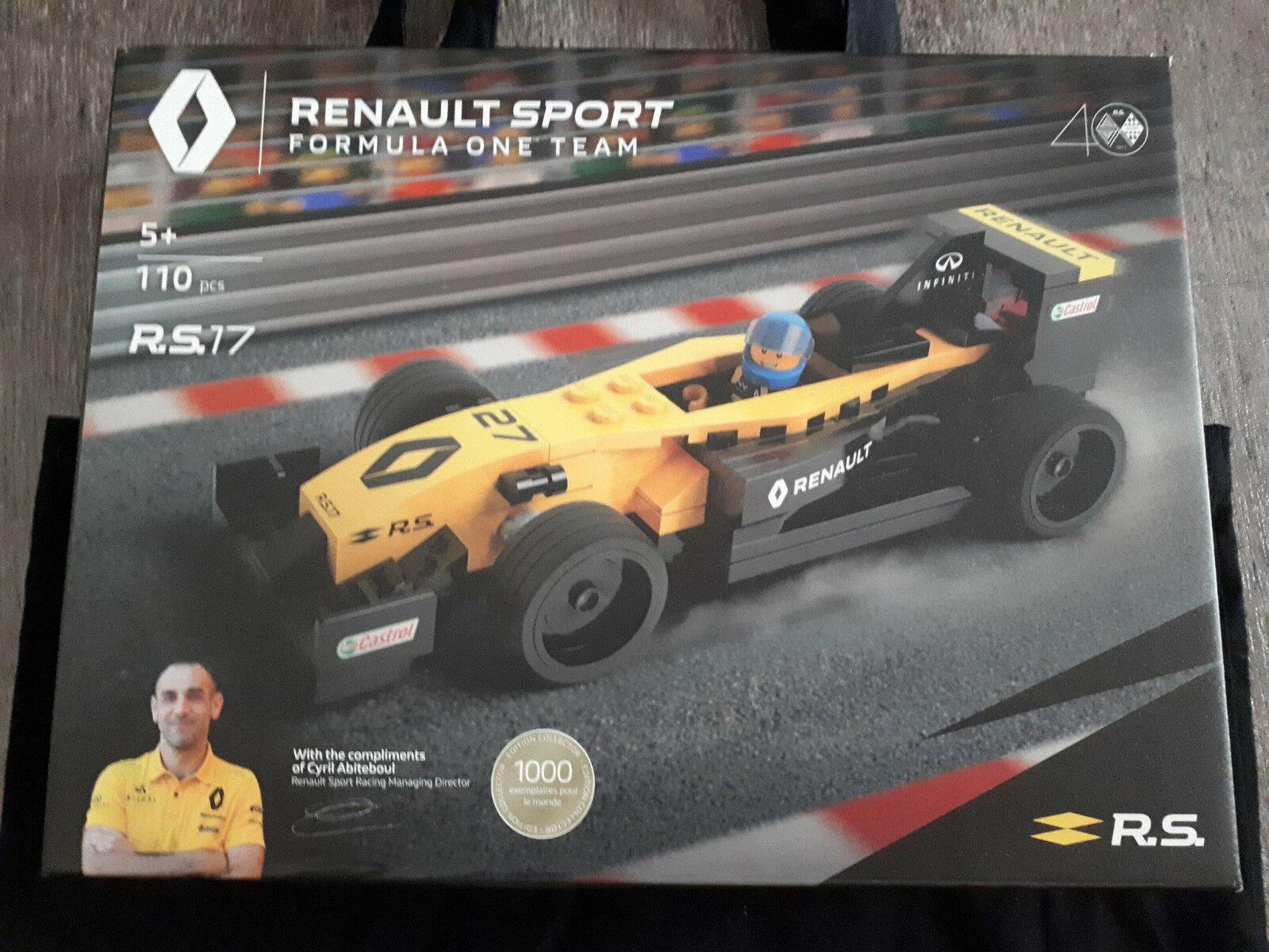Lego Renault Sport Formula One Team R.S.17 éd. limitée, rare neuf