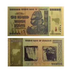 1x-Zimbabwe-100-Trillion-Banknote-Gold-Bill-World-Money-Value-Collection-Gift