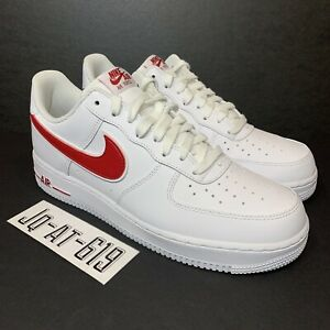 005330dc901f NIKE AIR FORCE 1 07  3 Mens Size 10 Wmns Size 11.5 White Gym Red ...