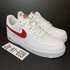 48b003fbf65 NIKE AIR FORCE 1 07  3 Mens Size 10 Wmns Size 11.5 White Gym Red ...