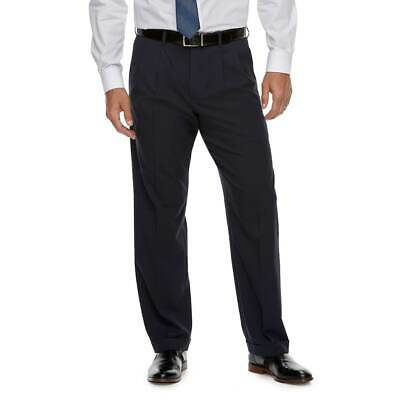 Men/'s Croft /& Barrow Classic-Fit Pleated /& Cuffed No-Iron Stretch Pants New