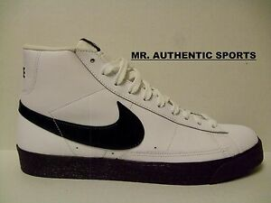 the latest 56128 3bacd Image is loading NIKE-BLAZER-HIGH-LEATHER-SIZE-12-WHITE-BLACK-