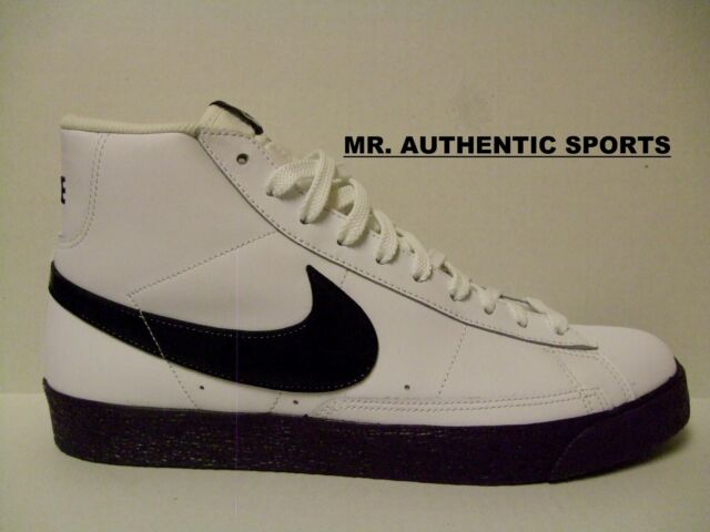 Nike Blazer High Leather Size 8 White/black Grand Purple 316664-104