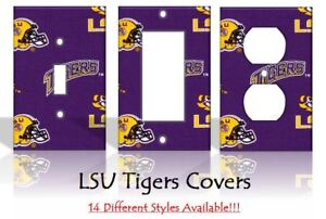 Image Is Loading Lsu Tigers 2 Light Switch Covers Football Ncaa