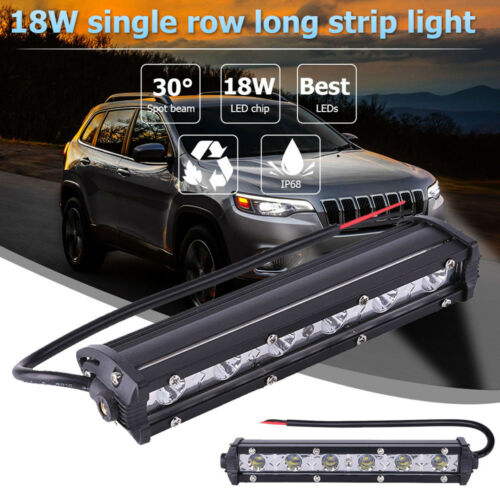 "6/"" 18W LED Waterproof Work Light Bar Driving Lamp Fog Off Road SUV Car Spotlight"
