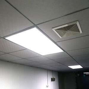320 led panel ceiling light fixture suspended recessed lamp 5500k 600x1200 68w ebay. Black Bedroom Furniture Sets. Home Design Ideas