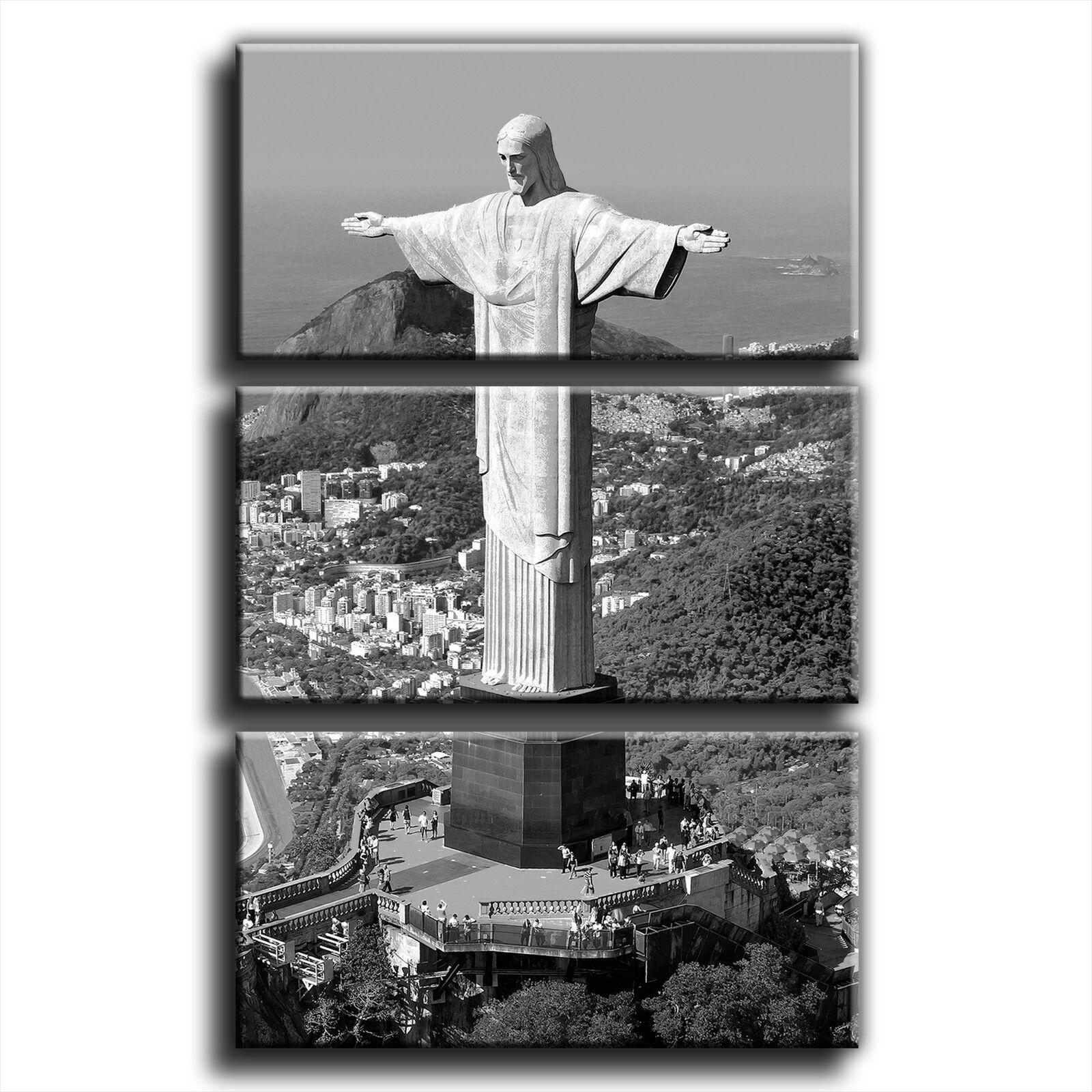 Le brésil rio christ the Rouge eemer paysage paysage paysage treble toile murale art photo print 1 | Emballage élégant Et Robuste  8d2a7d