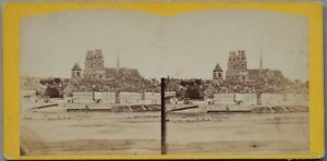 Panorama Di Orleans Cattedrale Francia Foto Stereo Vintage Albumina c1865