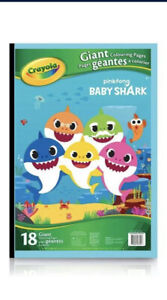 Crayola Giant Coloring Pages Pinkfong Baby Shark 18 Giant ...