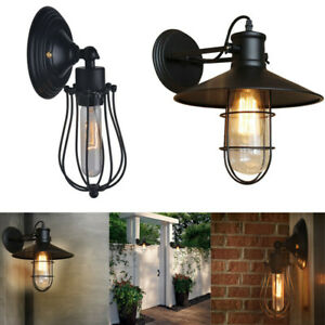 Details About Retro Black Wall Sconce Lighting Gooseneck Barn Lights Led Fixtures Lamp