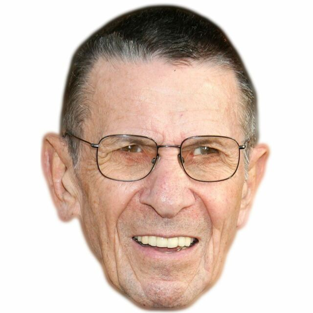 Leonard Nimoy Celebrity Mask, Card Face and Fancy Dress Mask