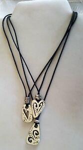 Details about Brighton retired Brazilian black cord enamel pendant necklace  J40780 B167