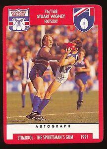 70 Peter Foster  Near MINT 1991 Scanlens Stimorol Footscray Bulldogs No