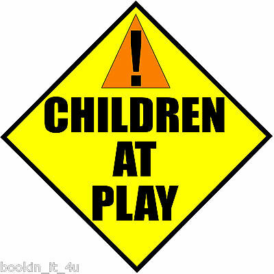 CHILDREN AT PLAY VINYL DECAL STICKER SIGN MULTIPLE SIZES HOME BUSINESS USE