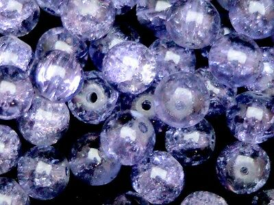 Round Glass Crackle Beads ( 400 - 4mm ) ( 200 - 6mm ) (100 - 8mm ) 50 - 10mm) ML