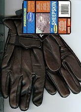 NEW BOSS SHEEPSKIN LEATHER GLOVES WITH THINSULATE SIZE LARGE BLACK