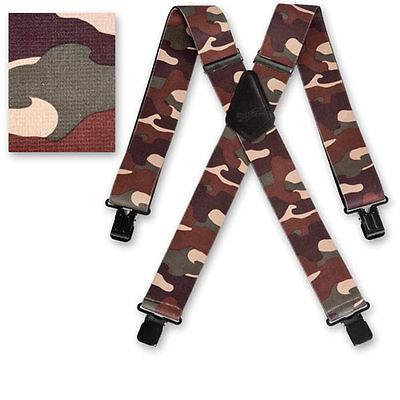 "Brimarc Mens Braces Heavy Duty Suspenders 2/"" 50mm Wide Yellow Tape Braces"