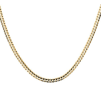 Wellingsale 14k Yellow Gold Polished 3.4mm Cuban Concaved Curb White Pave Diamond Cut HOLLOW Chain Necklace with Lobster Claw Clasp