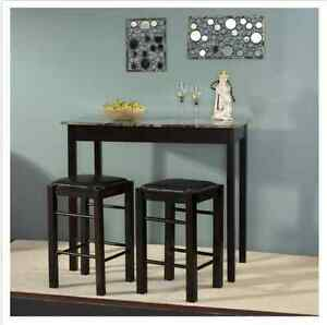 Image Is Loading Breakfast Nook Tables With Chairs Set Bar Counter