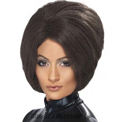 W285 Posh Spice Girls Brown Bob Short Party Costume Wig Victoria Beckham
