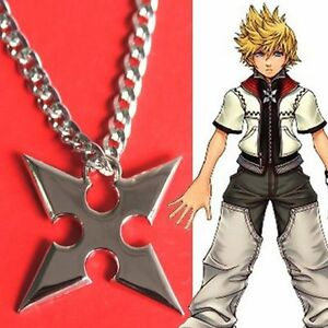 Kingdom hearts collana necklace ciondolo sora roxas cross pendant image is loading kingdom hearts necklace necklace pendant sora roxas palawan aloadofball Gallery