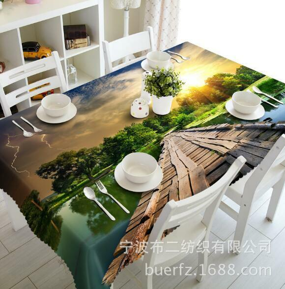 3D Bridge 545 Tablecloth Table Cover Cloth Birthday Party Event AJ WALLPAPER AU