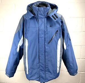 SNOZU-Mens-Size-Large-Blue-Hooded-Winter-Jacket