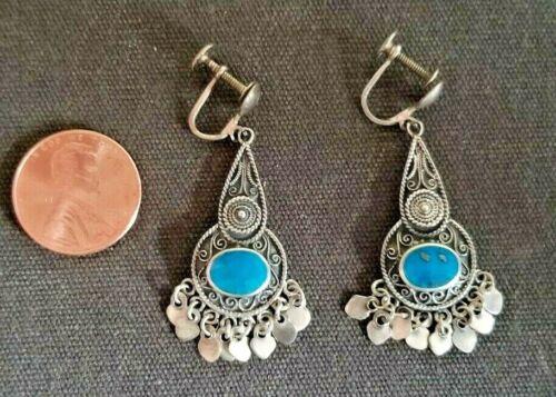 Sterling Sliver Vermeil winged DancerFairyValkyrie Dangle Earrings