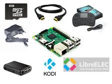 Raspberry Pi 3 1GB Wi-Fi Home Media Kit Case 8GB HDMI KODI Media Center Keyboard