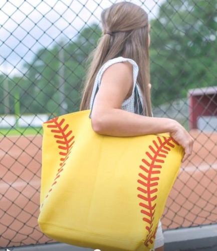 Orange basktball White Baseball Cotton Canvas Tote Bag Mom Purse Lined Sport Bag