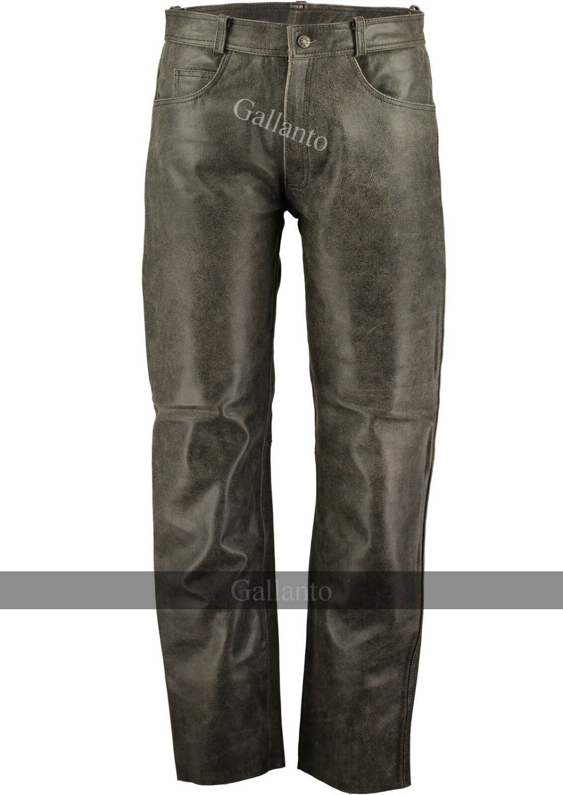 Motorcycle Pants Distressed Leather Motorcycle Trousers Vintage Leather Biker