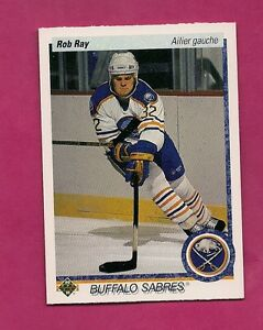 1990-91-UPD-516-SABRES-ROB-RAY-ROOKIE-NRMT-MT-FRENCH-CARD-INV-9475