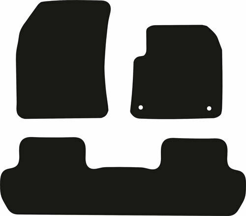 Peugeot 3008 New Tailored Black Rubber Car Floor Mats 2017 to Date