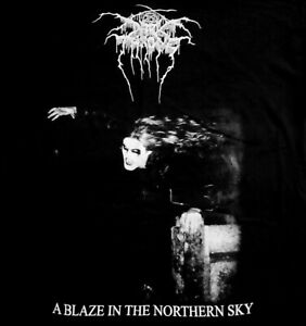 DARKTHRONE cd cvr BLAZE IN THE NORTHERN SKY Official SHIRT XL new