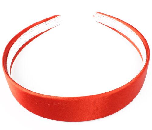 SATIN HEADBANDS WIDE SATIN ALICE BAND GIRLS WIDE HEAD BAND 2.5cm WIDE SOFT BAND