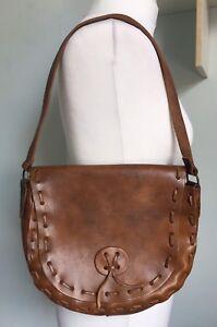 western style style brun cow cuir en femme moyen girl pour à bandoulière épaule Sacoche S7zIwaOx