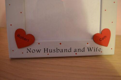 Amigos hecho a mano personalizado marido y mujer marco foto aniversario de bodas