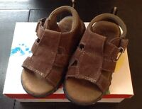 Kids Feet Miguel Brown Suede Buckle Sandals Size 9 M Kids Toddler Boy Shoes