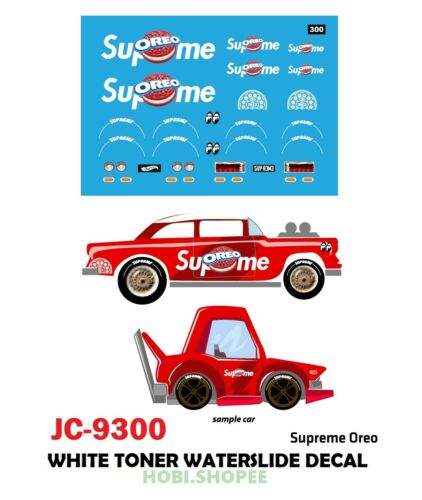 JC-9300 White Toner Waterslide Decals /> OREO /> Custom 1:64 Hot Wheels