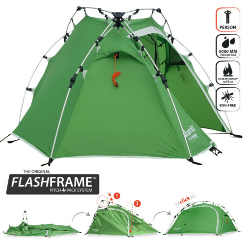 NEW QUICK PITCH 1 PERSON INSTANT ERECT LIGHTWEIGHT CAMPING TENT ONE MAN BERTH