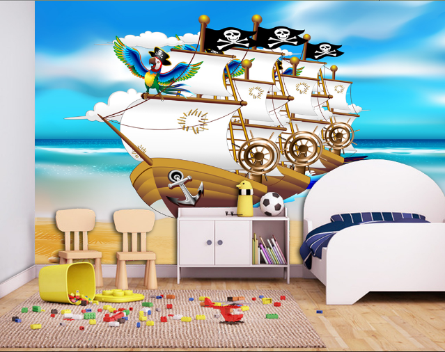 3D Pirate Ship 864 Wall Paper Murals Wall Print Wall Wallpaper Mural AU Kyra